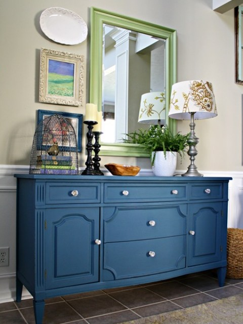 royal blue painted furniture