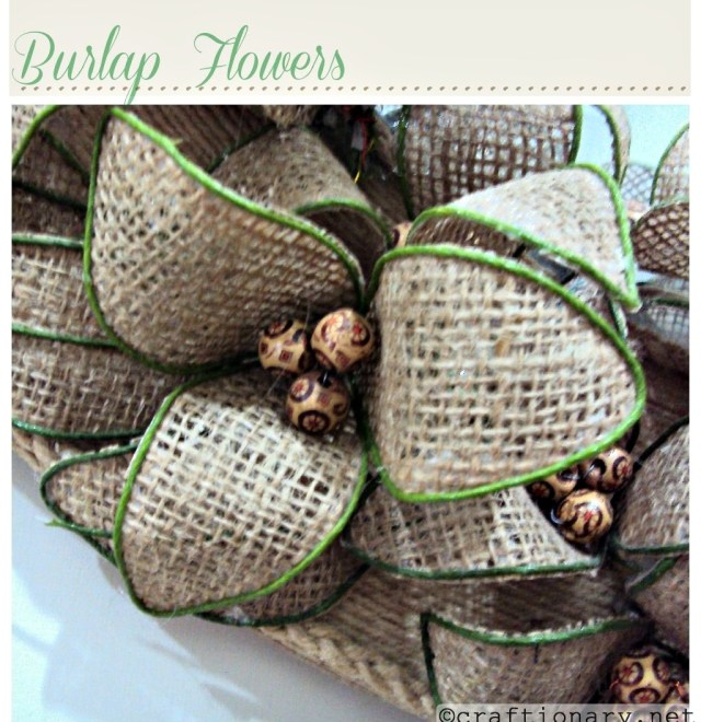 make flowers with burlap