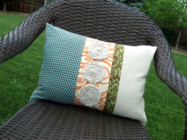 fabric patch pillow tutorials
