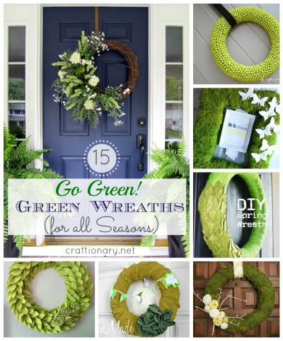 green wreath tutorials