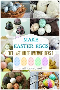 make handmade easter eggs