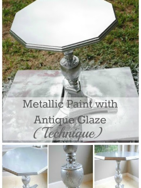 metallic painted furniture