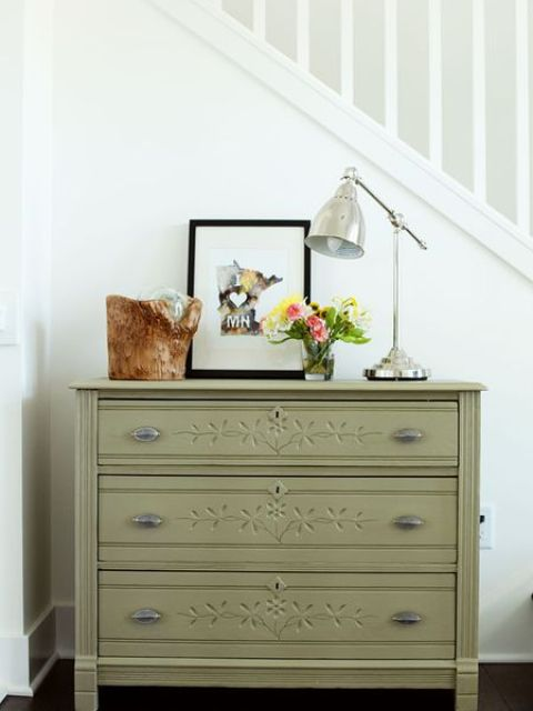olive painted furniture