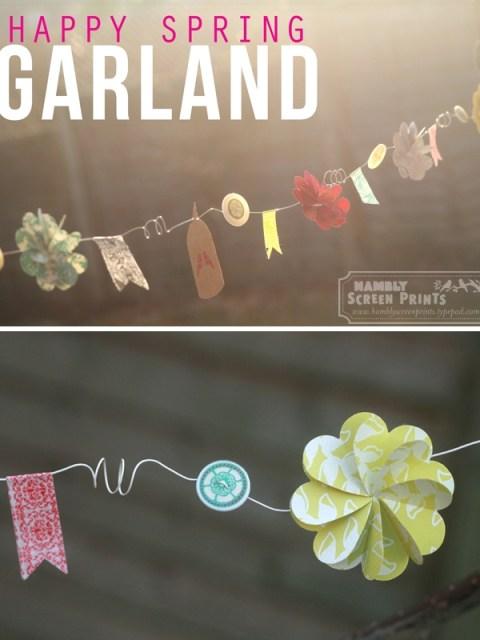 spring paper garland