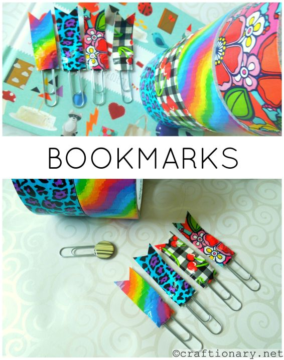 diy duct tape bookmarks