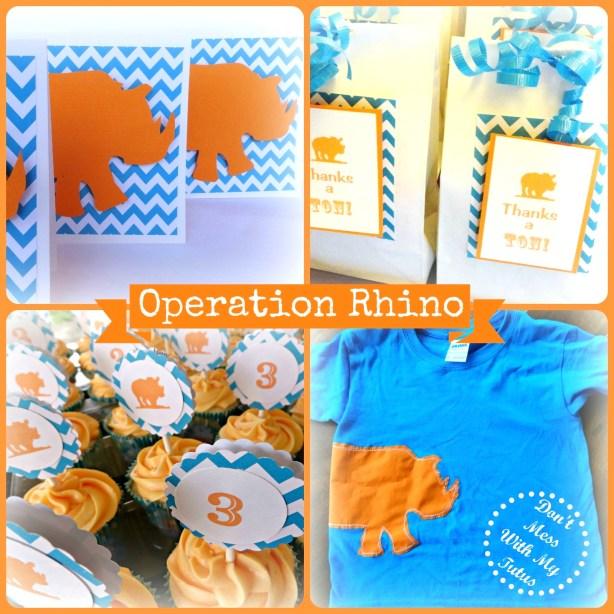 operation rhino party theme
