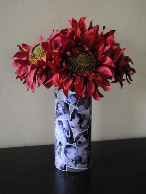 diy photo vase