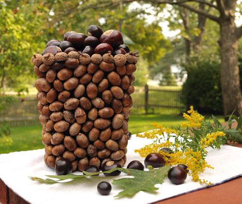 acorn vase tutorial