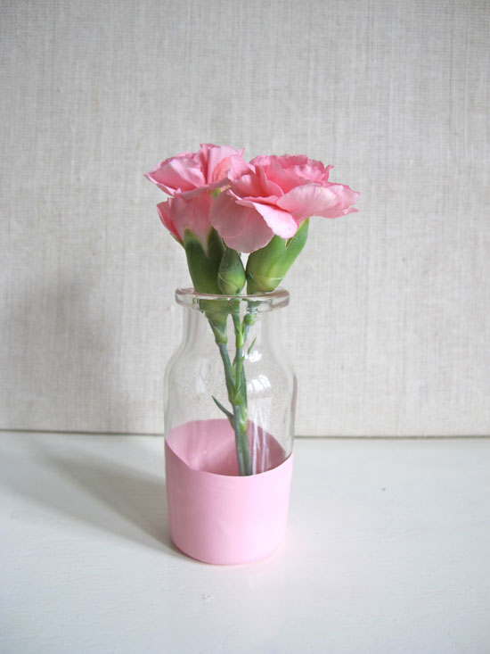 dipped DIY vases