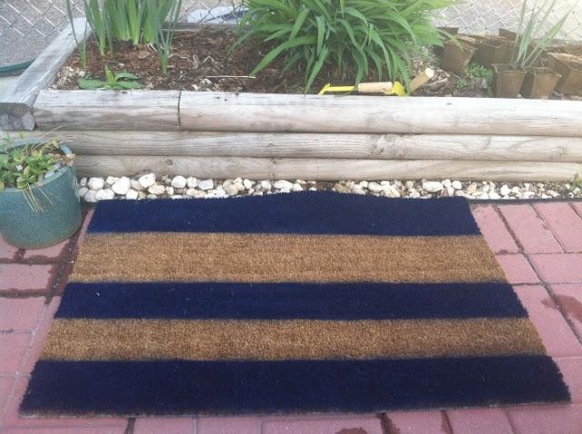 diy painted mat