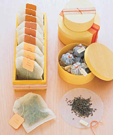 handmade gift tea tubs