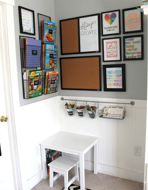 DIY kids art space