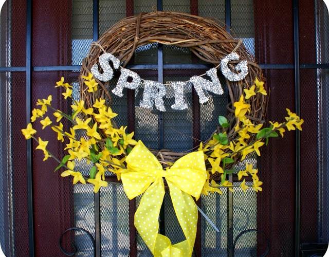 colorful DIY wreath