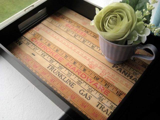 yardsticks DIY tray