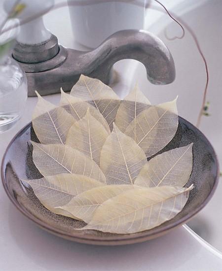 Handmade leaf skeleton soaps for single use only