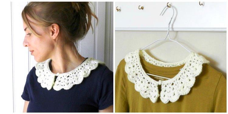 DIY crochet collar