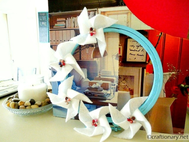 DIY pinwheels wreath