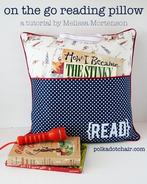 reading pillow gift idea