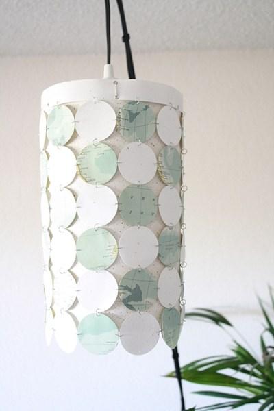 lampshade paper circles