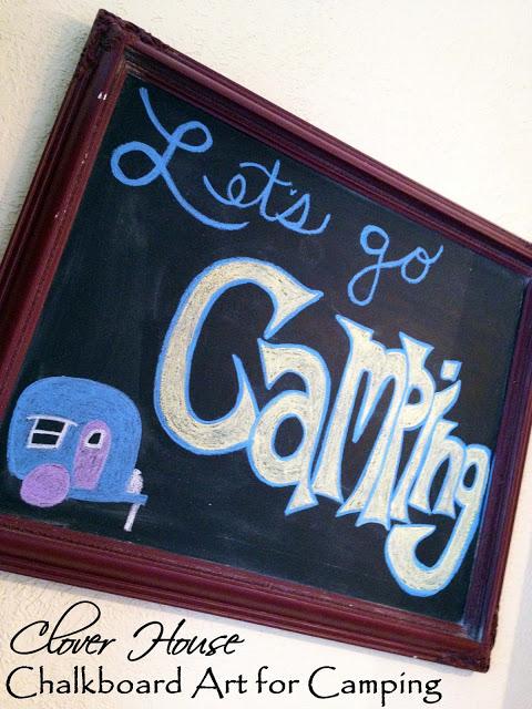 camping chalkboard art