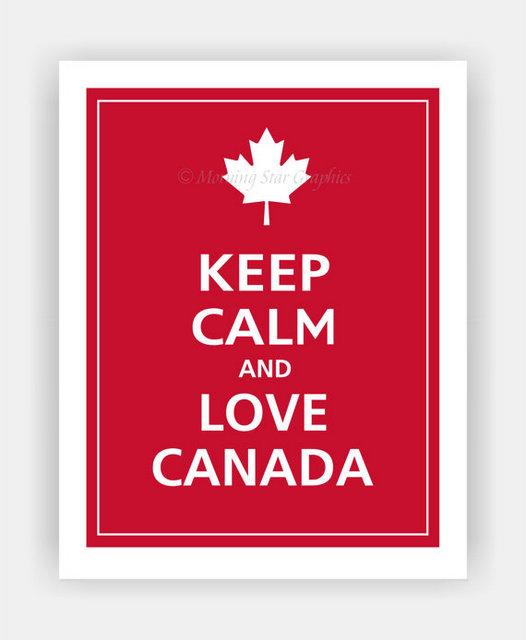 canada love printable