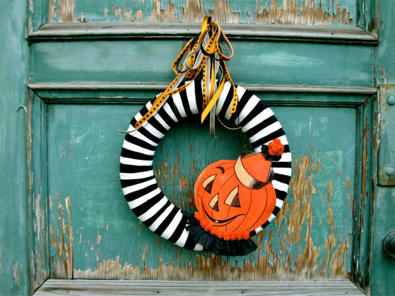 pumpkin wreath tutorial
