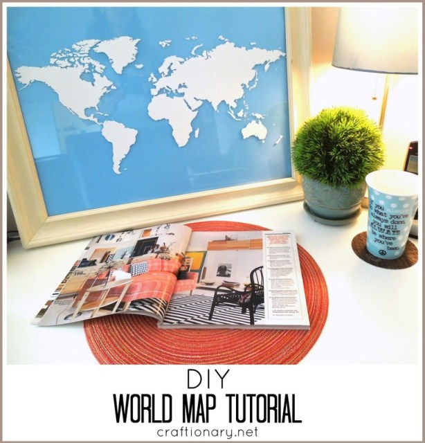 DIY world map tutorial