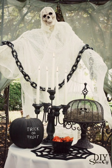 DIY Halloween ghost tutorial
