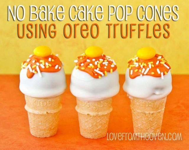 oreo truffles cake pop cones