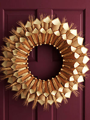 thanksgiving paper cone wreath