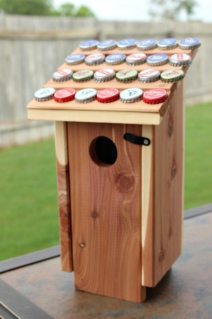 bottle cap birdhouse