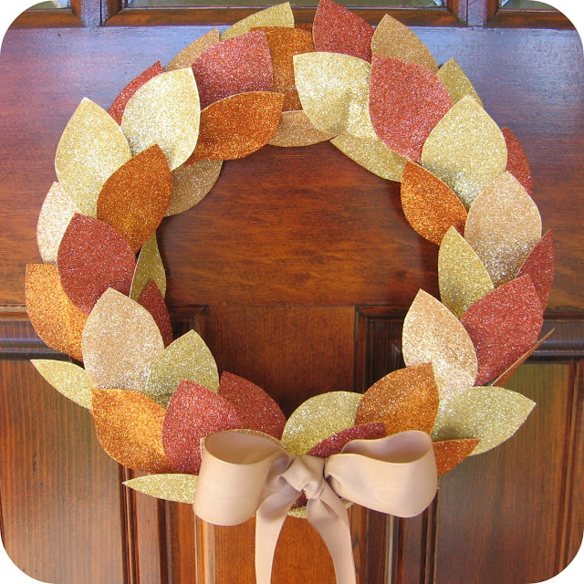 glitter give thanks wreath