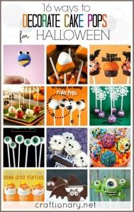 Halloween cake pops cookie pops decorating ideas
