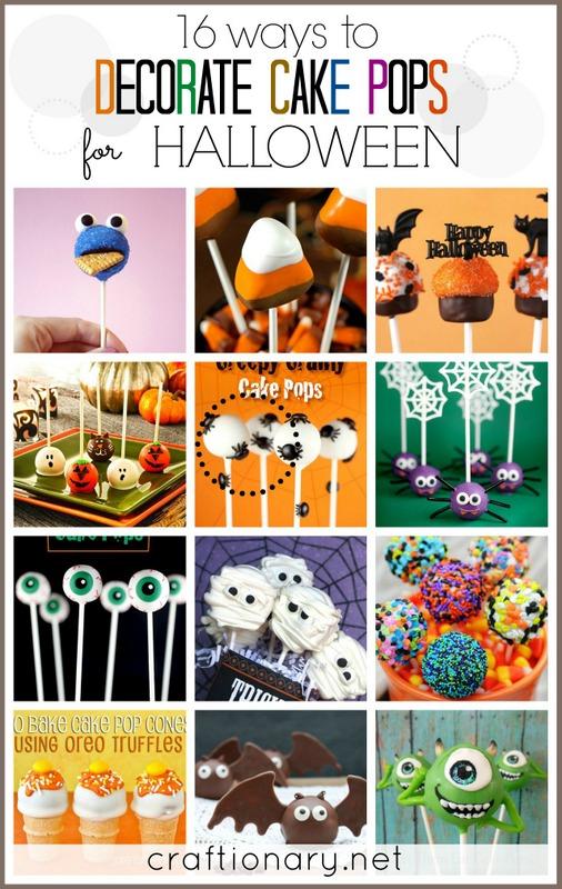 Halloween cake pops cookie pops