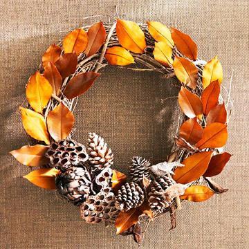 natural pine cones wreath