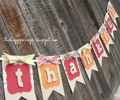 thankful fabric banner