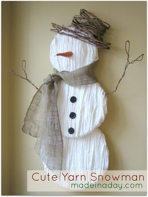 snowman winter decor