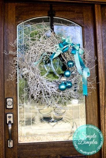 Christmas branch wreath