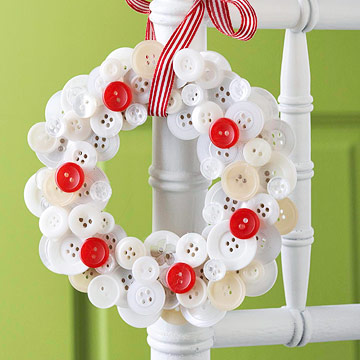 easy button wreath