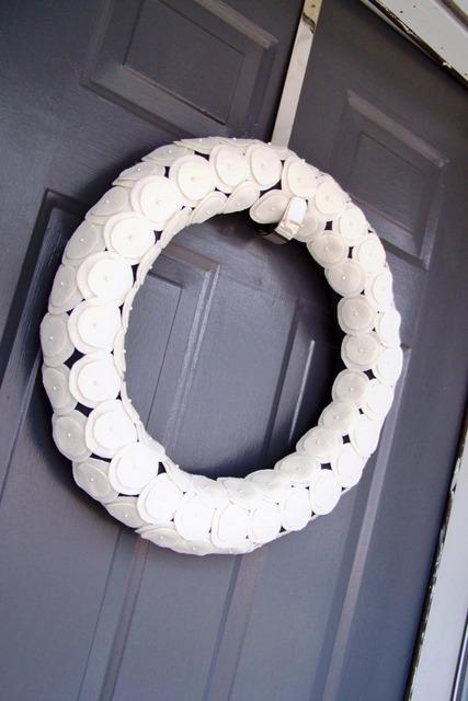 white winter wreath