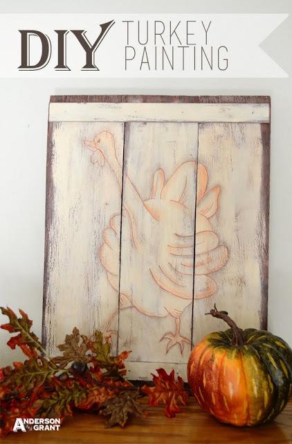 DIY turkey painting