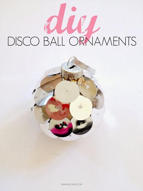 DIY disco ball ornament