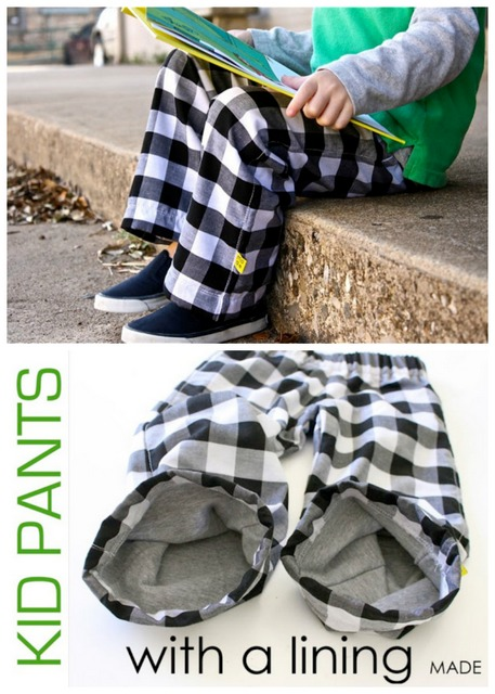 kids pants with lining
