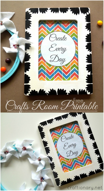 crafts room free printable