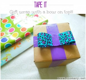 duct tape gift wrap
