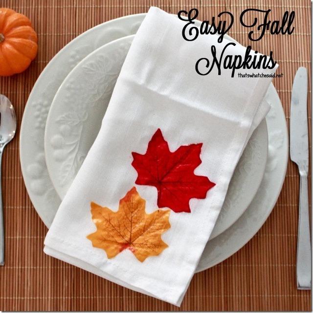 easy fall napkin