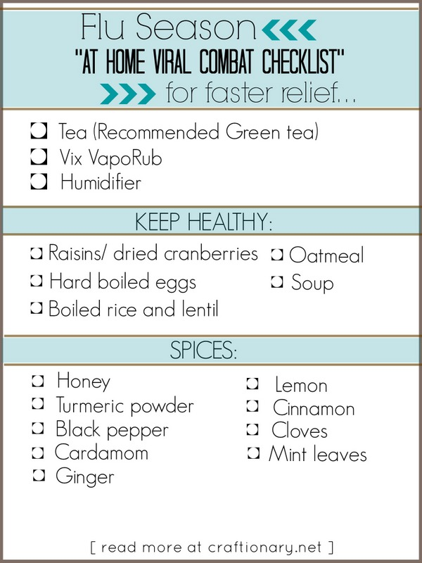 flu season checklist