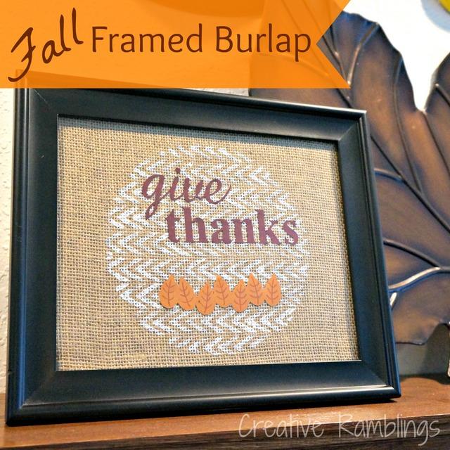 give thanks burlap art