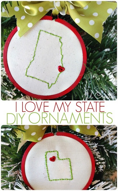 state christmas ornaments