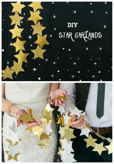 DIY star garland tutorial